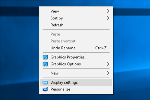 Choose display setting