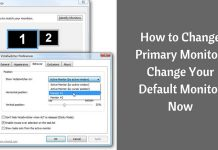How to change Primary Monitor
