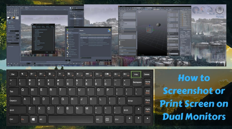 How to take screenshotprint screen on dual monitors perfect guide ccuart Images