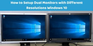 How to Setup Dual Monitors with Different Resolutions Windows 10Add heading