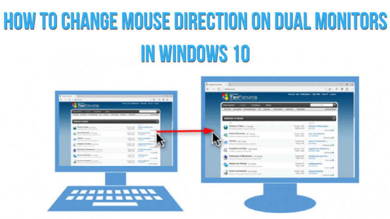 How to Change Mouse Direction on Dual Monitors in Windows 10 | Top Guide