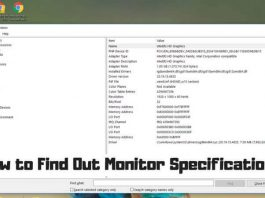 How to Find Out Monitor Specification
