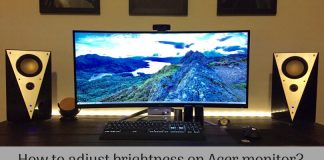 How to adjust brightness on Acer monitor