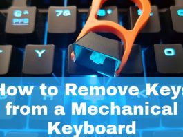 How to remove keys from a mechanical keyboard