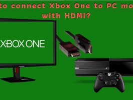How to connect Xbox One to PC monitor with HDMI